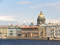 English Embankment in Saint Petersburg.