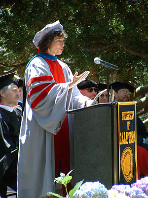 AnnaLee Saxenian addressing graduates at the U...