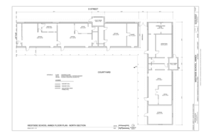 Annex Floor Plan - North Section - Westside School, Annex, Corner of Washington Avenue and D Street, Las Vegas, Clark County, NV HABS NV-65-A (sheet 3 of 9).png
