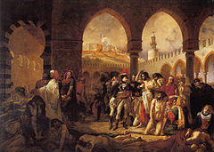 Napoleon Visiting the Plague Victims of Jaffa, 1804 Antoine-Jean Gros - Bonaparte visitant les pestiferes de Jaffa.jpg
