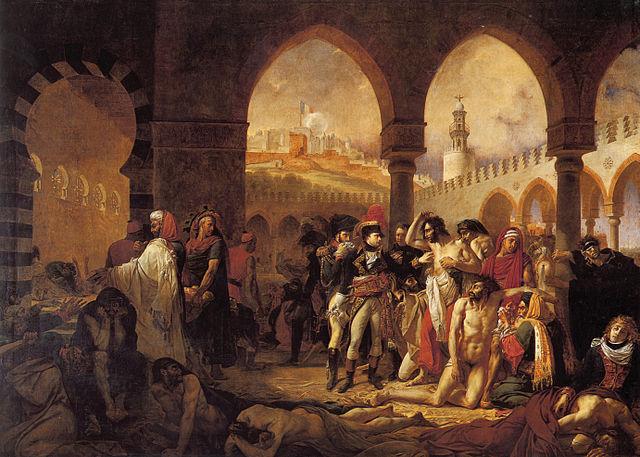 Наполеон навещает больных чумой в Яффе. Гро (1804)