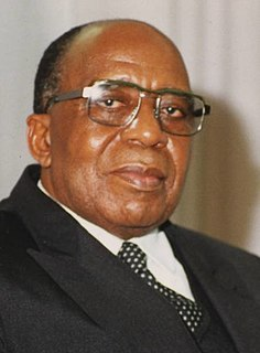 Antoine Gizenga Congolese Prime Minister, candidate for President