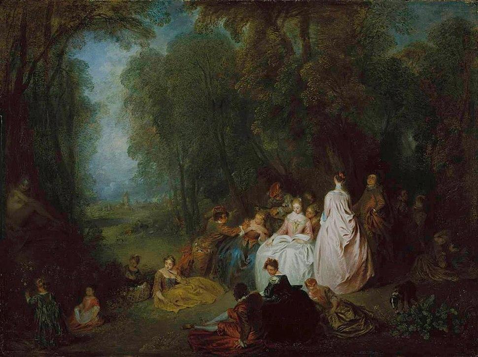 Antoine Watteau - Fête champêtre (Pastoral Gathering)
