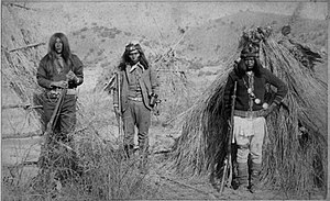 Massai - Left 'Massai', center 'Apache Kid', right 'Rowdy'