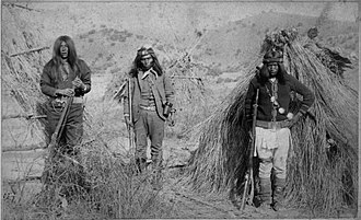 Apache Kid - The Apache Kid (Haskay-bay-nay-ntayl, center) while he was a Sergeant for the U.S. Army
