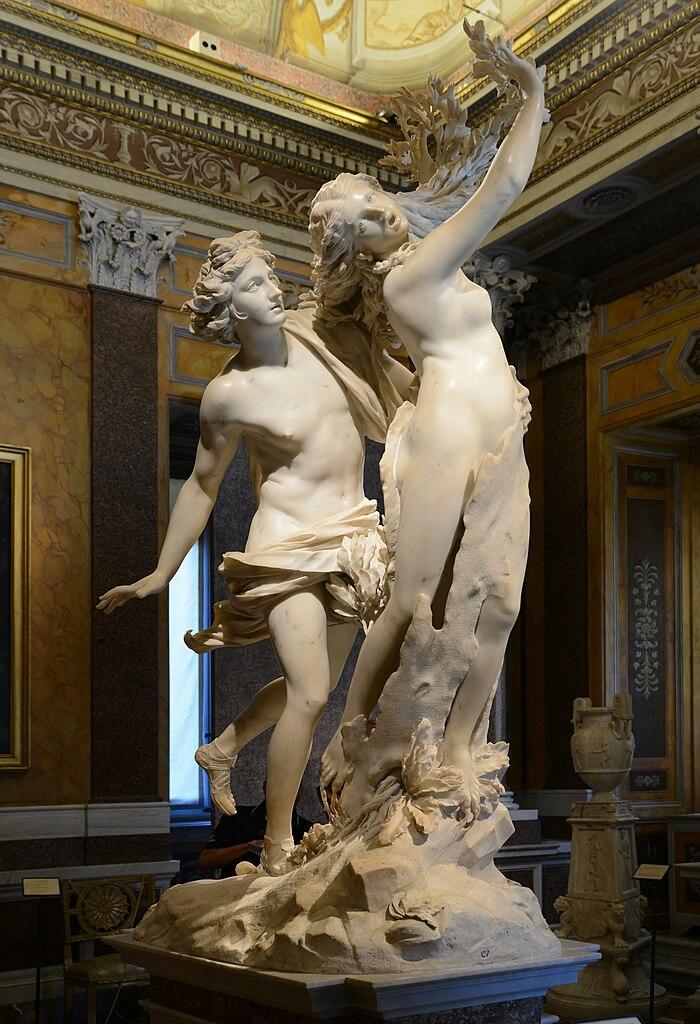 """Sculpture de Bernini """"Apollon et Daphné"""" à la galerie Borghese à Rome. Photo de Alvesgaspar"""