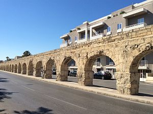 Wignacourt Aqueduct - Part of the aqueduct at Birkirkara