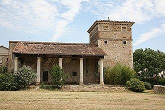 Villa Trissino (Meledo di Sarego) - One of the two wings with dovecote