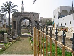 Marcus Aurelius Arch in Tripoli, built to commemorate the emperor.