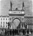 Arco do Comércio levantado no largo do Corpo Santo, por ocasião da chegada da rainha Dona Maria Pia em 1862.png
