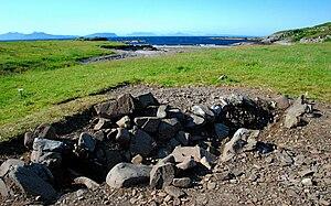 Port an Eilean Mhòir boat burial - The Port an Eilean Mhòir boat burial site