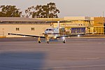 Armada Aviation (VH-XAQ) Pilatus PC12-45 taxiing at Wagga Wagga Airport (1).jpg