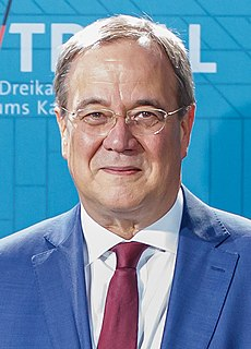 Armin Laschet Minister-President of North Rhine-Westphalia and Leader of the Christian Democratic Union