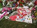 Artwork by school children at Christchurch mosque shooting memorial, Thursday 21 March 2019.jpg