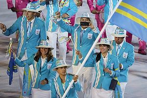 Aruba at the 2016 Summer Olympics - Sailor Nicole van der Velden led the Aruban team in the opening ceremony.