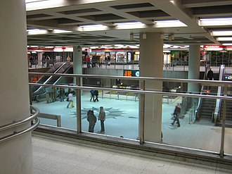 Helsinki Central Station - The metro station can be accessed through the Asematunneli complex
