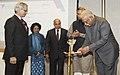 Ashok Gajapathi Raju Pusapati lighting the lamp to inaugurate the first Executive Development Programme on Aviation Management, organised by the Rajiv Gandhi National Aviation University, in New Delhi.jpg