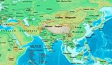 Карта, показывающая размеры Империи Пала