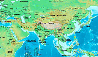 The Pala Empire was an imperial power during the Late Classical period on the Indian subcontinent, which originated in the region of Bengal Asia 800ad.jpg