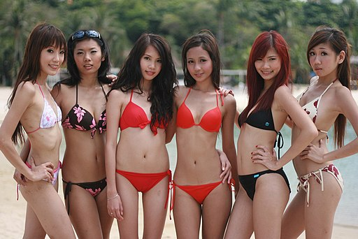 Asian models in January 2009 Bikini Shoot