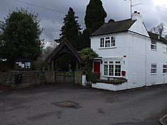 Aston Cantlow Lych gate & Old Post Office.JPG