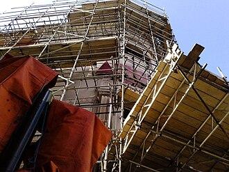 London Astoria - The Astoria with scaffolding prior to demolition.