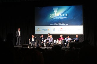 Chris Hadfield - Hadfield with Rusty Schweickart, Alexei Leonov and Garrett Reisman at the Starmus Festival in 2016