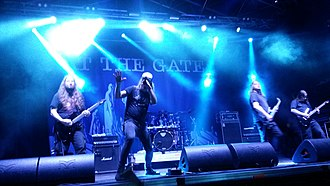 At the Gates - At the Gates performing live at the Hard Rock Laager Festival in 2016.