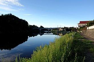 Mogami River - Image: Aterazawa Mogami Bridge 2006