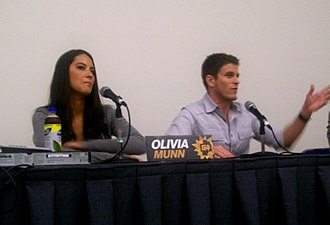 Attack of the Show! - Munn and Pereira on a panel for Attack of the Show! at the 2008 Comic Con in San Diego, California.