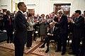 Attendees applaud as President Barack Obama acknowledges Vice President Joe Biden, 2014.jpg