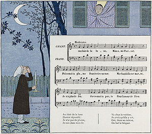 Au clair de la lune - Image: Au Clair de la Lune children's book 2
