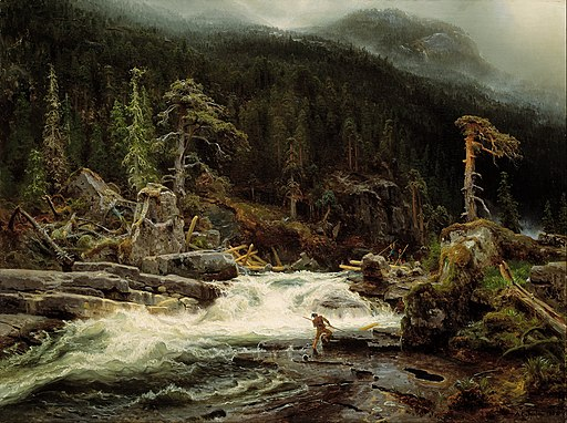 August Cappelen - Waterfall in Telemark - Google Art Project