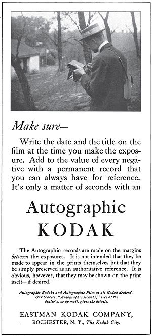 Autographic film - 1915 magazine ad