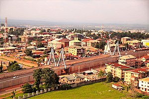 Aerial of Awka near Aroma Junction.