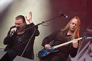 Axxis - Singer Bernhard Weiß and guitarist Stefan Weber at Rockharz 2016