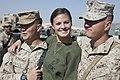 Ayla Brown greets Marines (5187493708).jpg