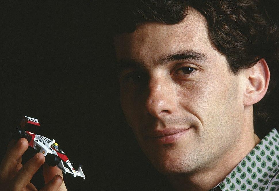Ayrton Senna with toy car cropped no wm