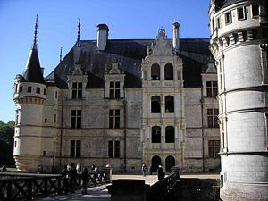 Château d'Azay-le-Rideau - View of the internal courtyard