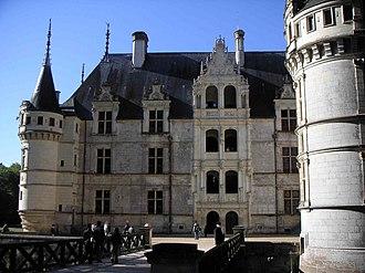 Château d'Azay-le-Rideau - View of the internal courtyard