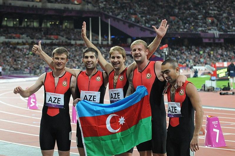 Azerbaijani athletics team at the 2012 Summer Paralympics.JPG