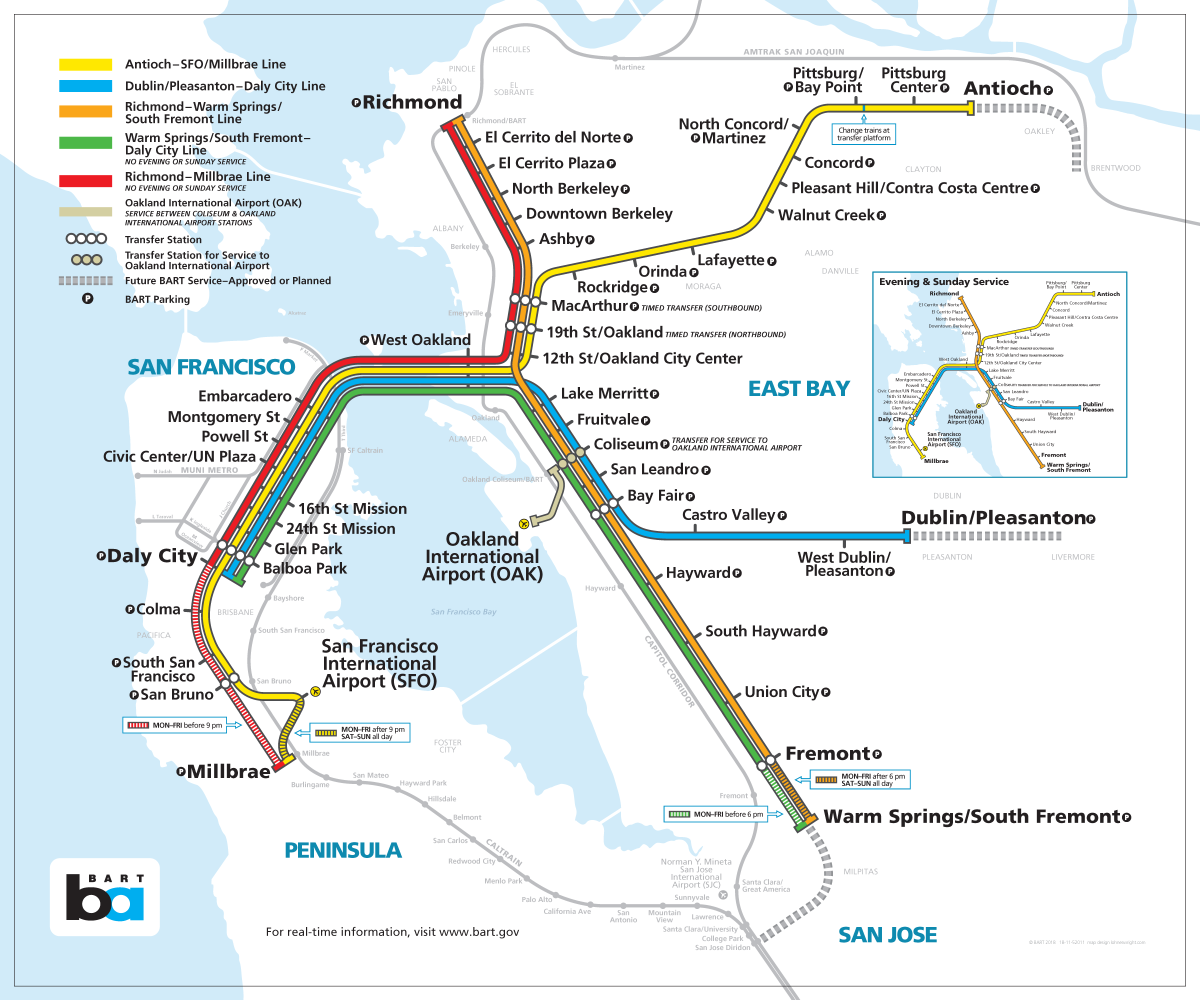 Bay Area Bart Map Bay Area Rapid Transit expansion   Wikipedia