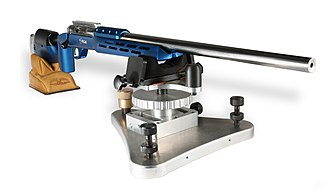 Benchrest shooting - A BCM Europearms single shot benchrest rifle.