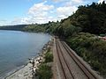 BNSF Scenic Subdivision, from Carkeek Park overpass.jpg