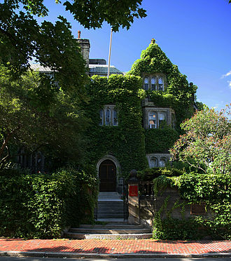 BU Castle - The Castle covered in ivy