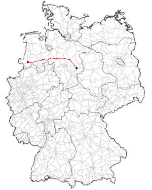 Bundesstraße 214 - Image: B 214 Verlauf