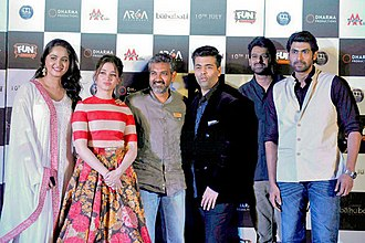 Baahubali: The Beginning - The cast of Baahubali at the trailer launch of the film