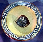 Bacino ceramico da facciata del duomo di s. miniato, nord-africa, 1190 ca. 15.JPG
