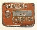 Badalona wheelbarrow license plate.jpg