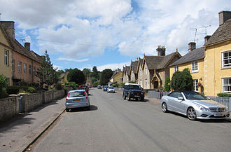 Badminton, Gloucestershire - The main street in 2013